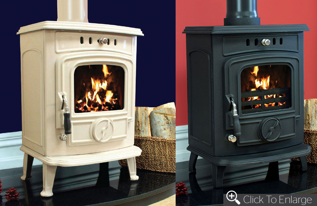 Aran 6kw Enamel Henley Stoves Wood Burning Stoves