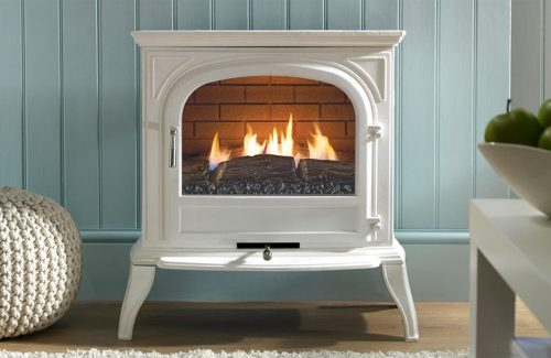 EKO 6010 White Plain Glass Gas Stove