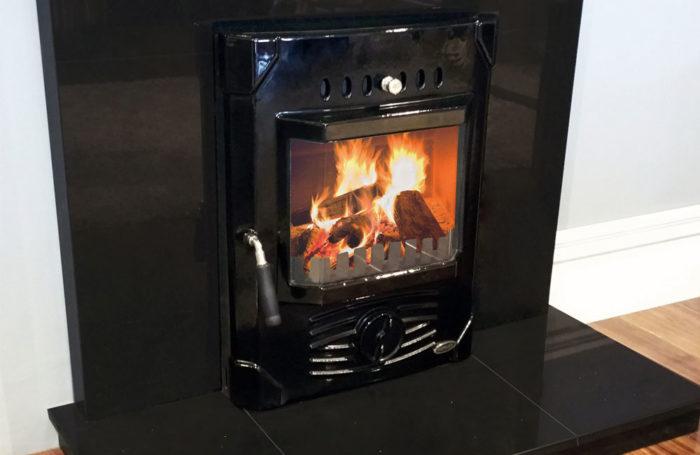 Erris Electric Fire Front Enamel Black