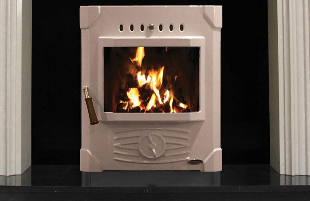 Erris Electric Fire Front Enamel Cream