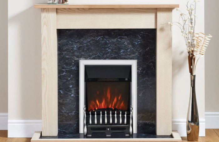 Blenheim Electric Fire Chrome