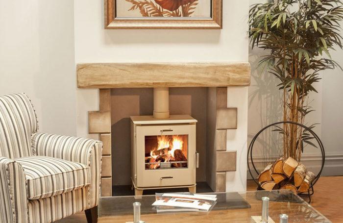 Cheltenham 5kW Stove Metallic Ivory