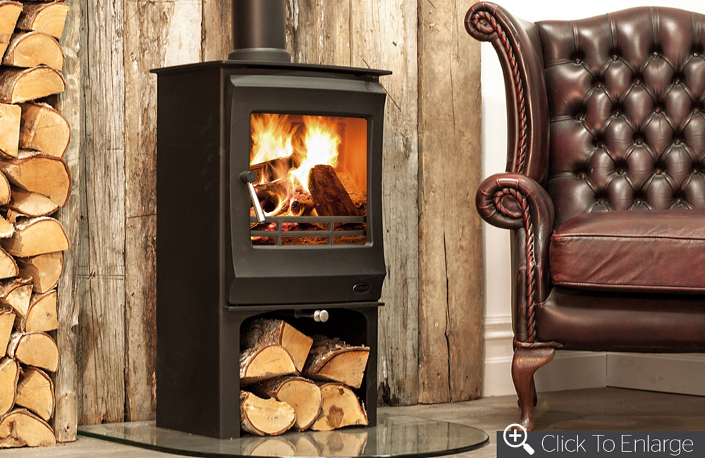 Elcombe 5kW Stove with Logstore