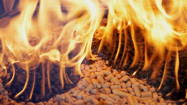 pellet, fire, fuel, stove