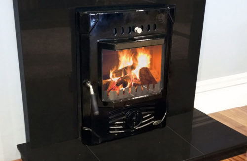 Erris Electric Fire Front Enamel Black
