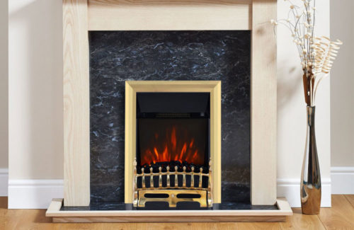 Blenheim Electric Fire Brass